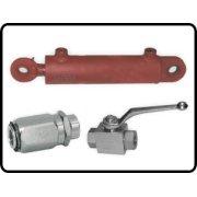 Ovládací prvky a hydraulické válce